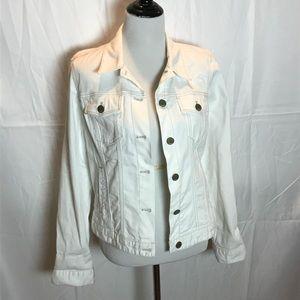 Gap 1969 white denim Jean jacket, Sz L